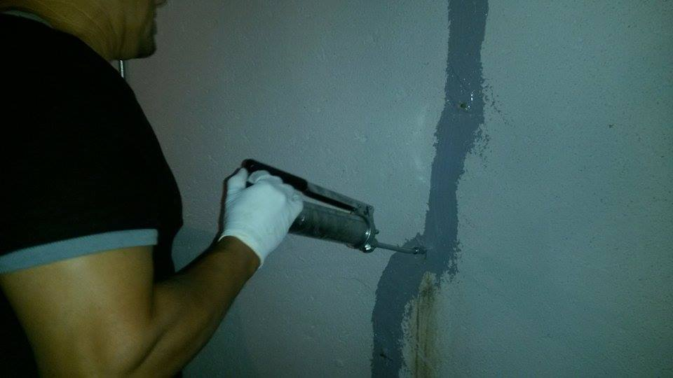crack injection basement wall livonia